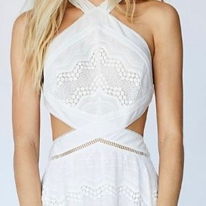 Free people enter white halter dress NEW